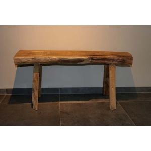 Rustiek houten bankje