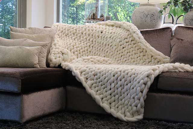 Woondeken van Merino wol