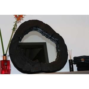 boomstam spiegel zwart