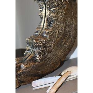 Gouden boomstamspiegel detail