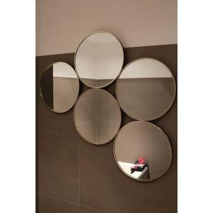 Ronde gouden spiegel