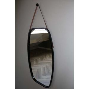 Zwarte bamboe spiegel