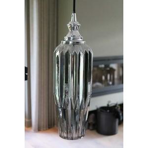 Smoked glass lamp groot