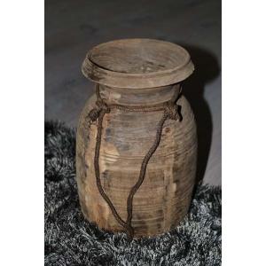 houten boterpot