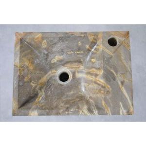 Waskom versteend hout beige grijs