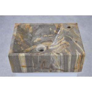 Waskom versteend hout grijs beige